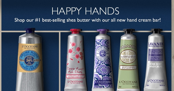 Happy Hands. Shop our #1 best-selling shea butter with our all new hand cream bar!