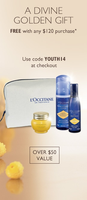 A Divine Golden Gift Free with any $120 purchase