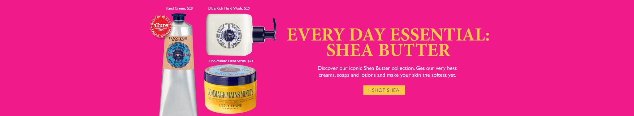 Everyday essential: Shea Butter.  Shop Shea