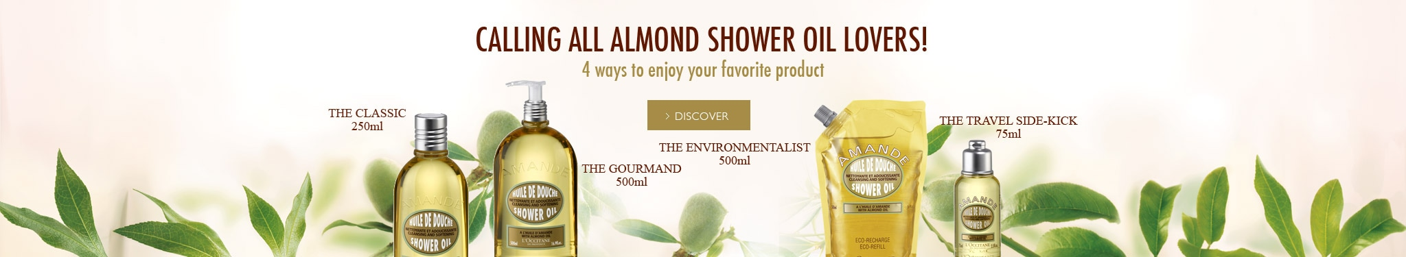Calling All Almond Shower Oil Lovers