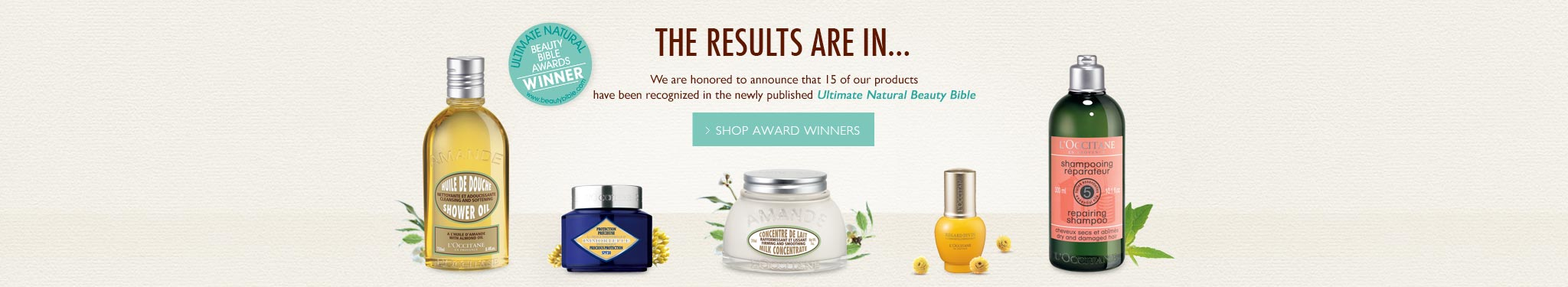 The Results Are In...We are honored to announce that 15 of our products have been recognized in the newly published Ultimate Natural Beauty Bible