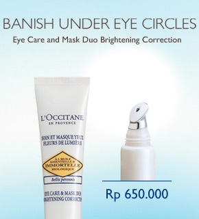 Banish UNder Eye Circles with Eye Care & Mask Duo Brightening Correction