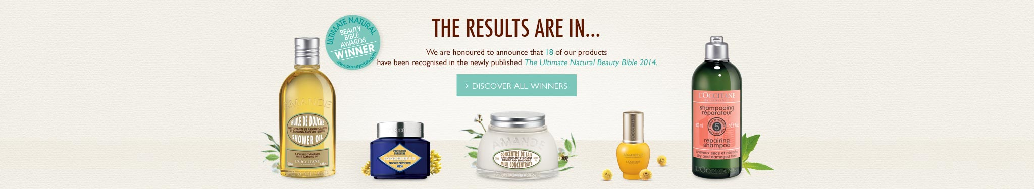 The Ultimate Natural Beauty Bible Winners