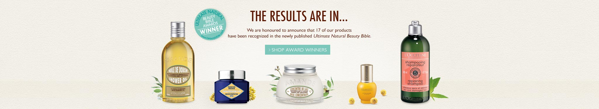 Natural Beauty Bible Award Winners