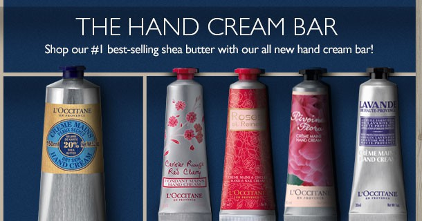 the hand cream bar- shop now
