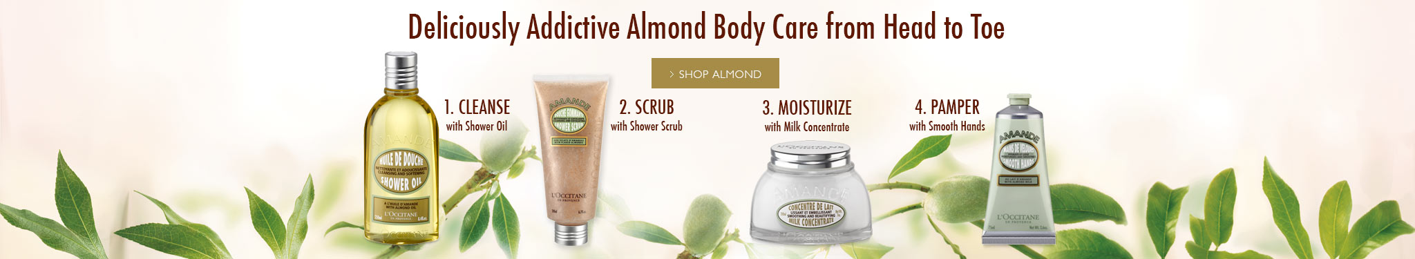Deliciously Addictive Almond Body Care from Head to Toe