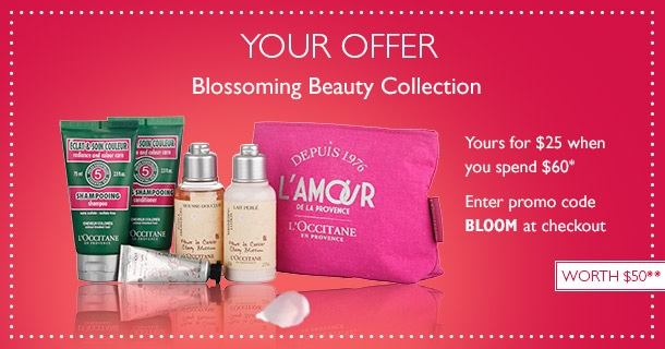 blossoming beauty collection- yours for $25 when you spend $60