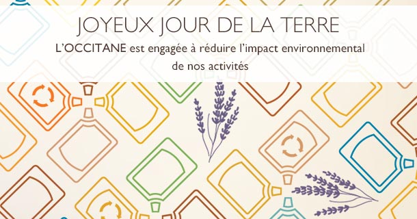 L'Occitane Green Initiatives Earth Day