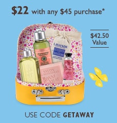 $22 with any $45 purchase. Use code GETAWAY