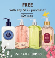 free with any $125 purchase.  use code JUMBO!