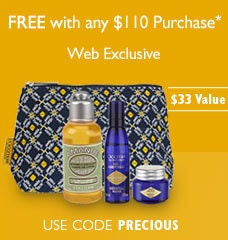 Free with any $110 purchase*. Web Exclusive. $33 Value. Use code PRECIOUS