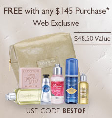 FREE with any $145 Purchase*.Web Exclusive.$48.50 Value. Use code BESTOF.
