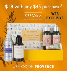 $18 with any $45 purchase*.$33 Value.Use code PROVENCE.