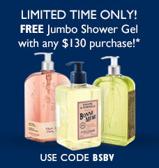 Limited Time Only - Jumbo shower gel free with $130 purchase