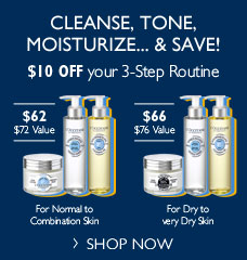Cleanse, Tone, Moisturze & Save!