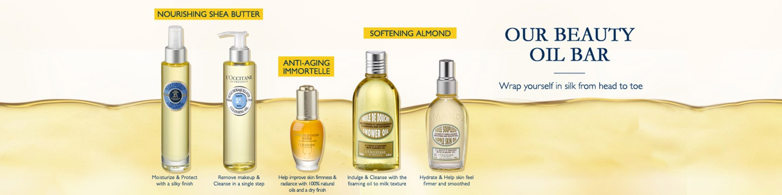 Shop Now The Best Oil Products For Silky Skin!