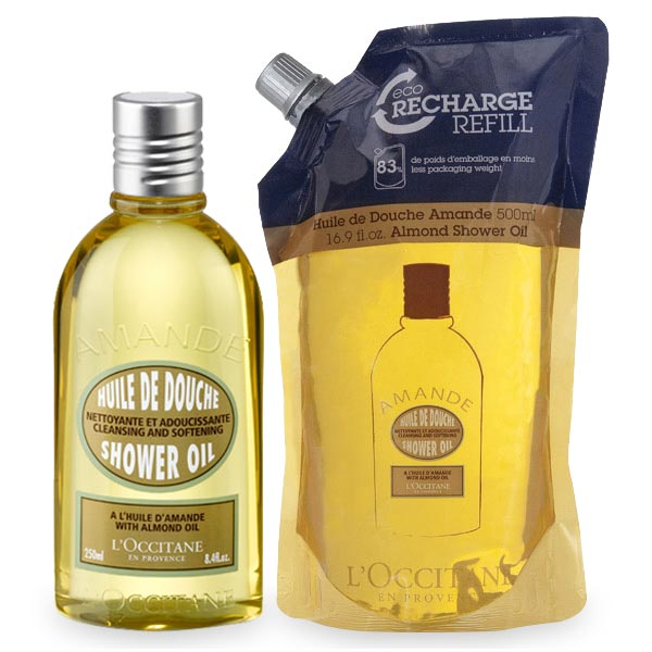 Almond Shower Oil 250ml & Eco-Refill Duo