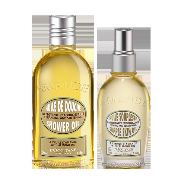 Aceite corporal y ducha de Almendra