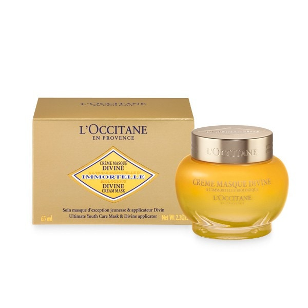 L'Occitane's Divine Cream Mask, moisturizing anti-aging face mask with essential oils