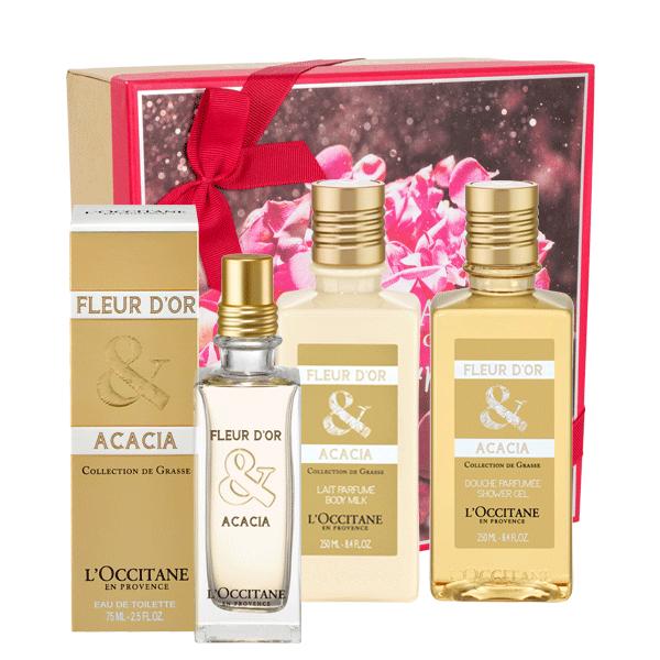 Fleur d'or et acacia gift set