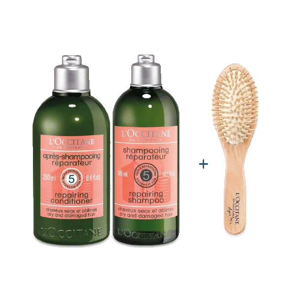 FREE Brush With Repairing Shampoo & Conditioner