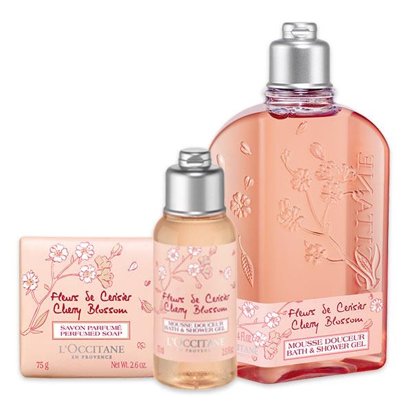 Trio Flor de Cerejeira para o Banho