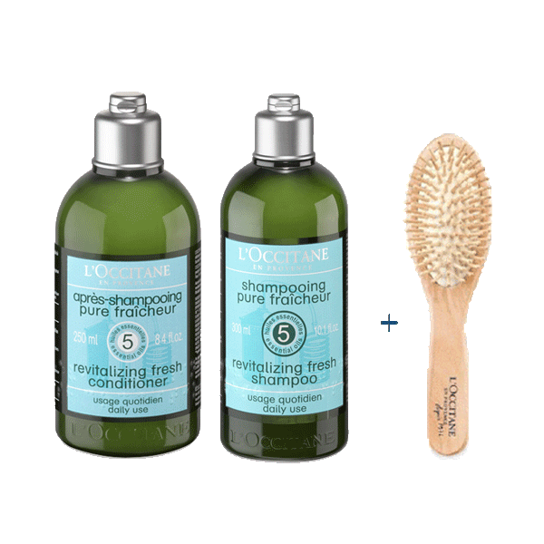 FREE Brush With Revitalizing Fresh Shampoo & Conditioner