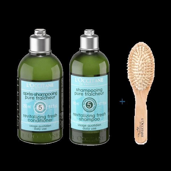 FREE Brush With Revitalizing Fresh Shampoo & Conditioner
