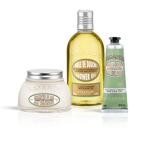 Almond pampering body care set