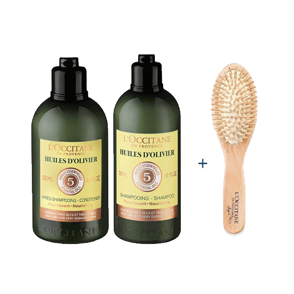 FREE Brush With Olivier Nourishing Shampoo & Conditioner