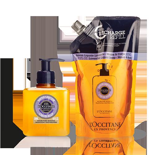 Shea Lavender Hands & Body Liquid Soap Refill Duo
