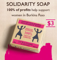 Solidarity Soap.  100% of profits help support women in Burkina Faso