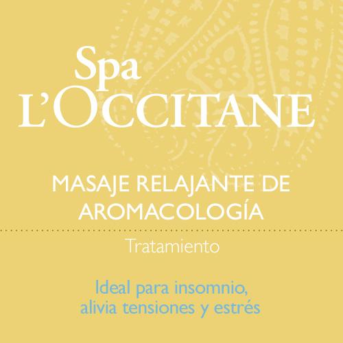 Masaje relajante de Aromacología
