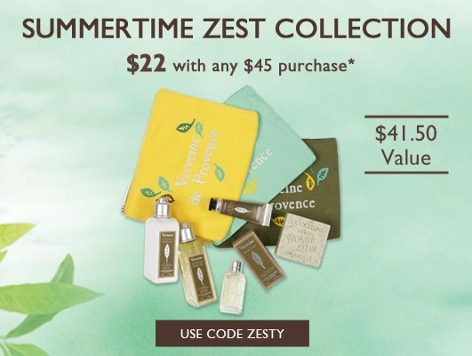 Summer Time Zest Collection $22 with any $45 purchase