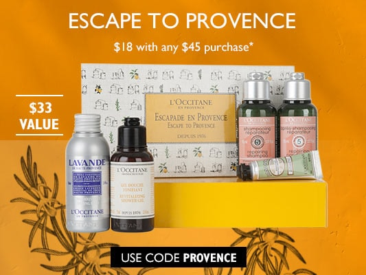 Escape to Provence.$18 with any $45 purchase. $33 Value.