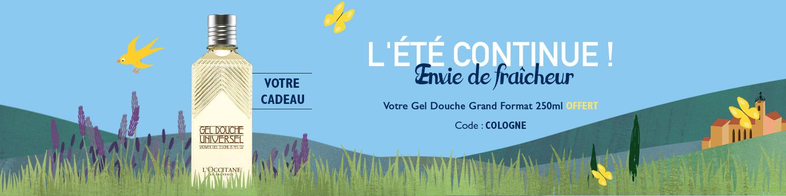 Offre Gel Douche Cologne - L'Occitane