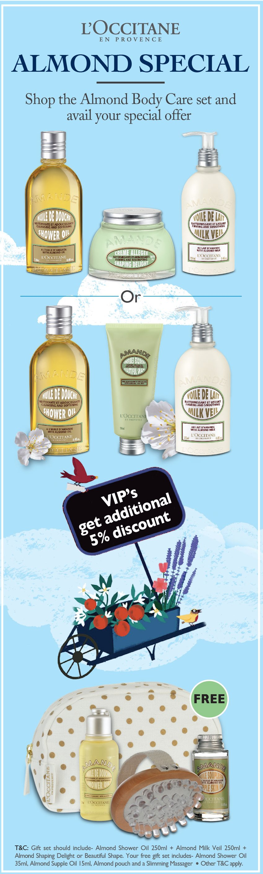 Almond VIP Gifts offer