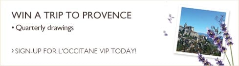 Win a Trip to Provence.  Quarterly Drawings