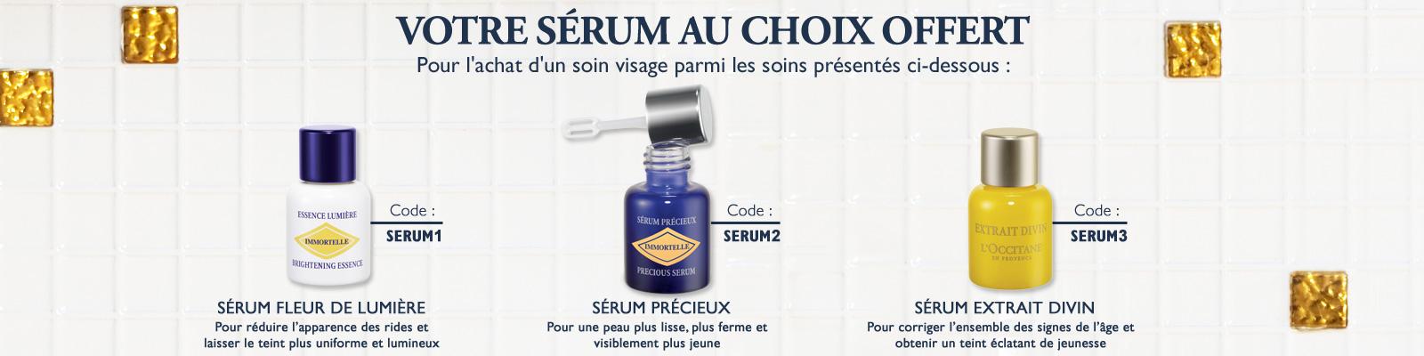 Offre sérum - L'Occitane France