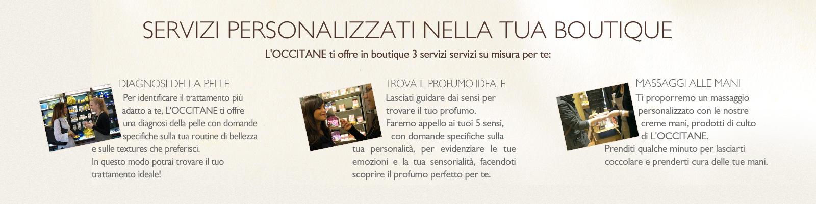 Servizi in Boutique - L'Occitane Italia