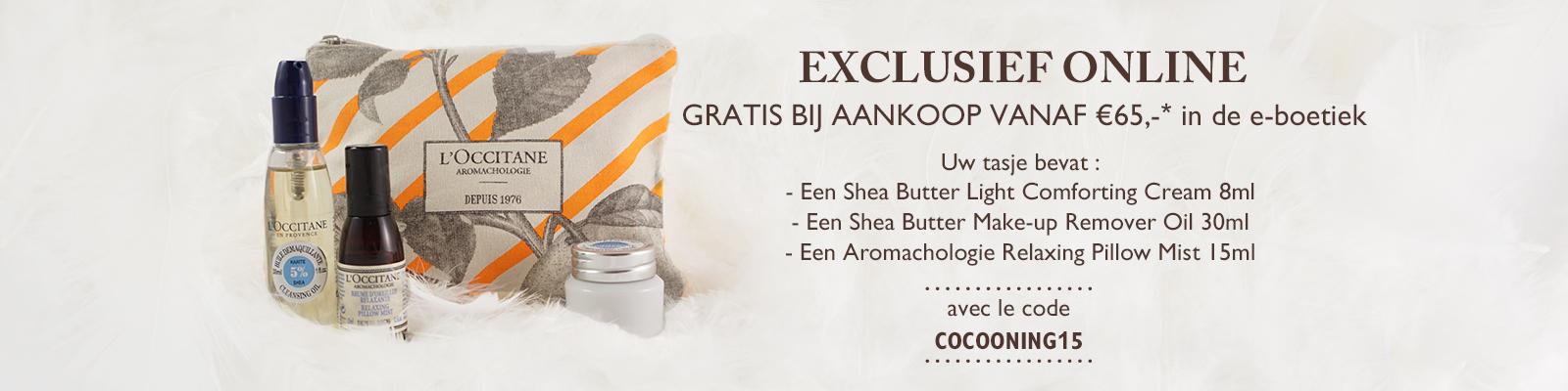 GRATIS BIJ AANKOOP VANAF €65,-* in de e-boetiek