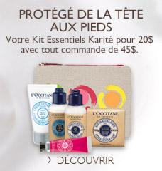 Kit Essentiels Karite pour 20$ avec tout commande de 45$