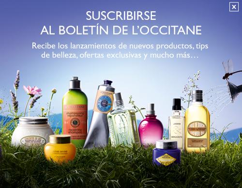 Suscribete al boletín de L'Occitane en Provence