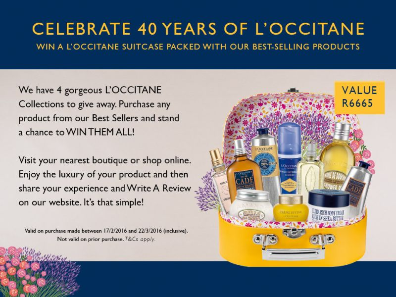WIN A L'OCCITANE BEST SELLERS COLLECTION