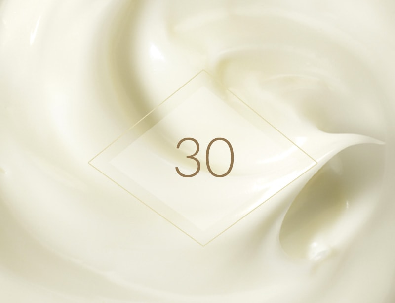 AT AGE 30, HELP REDUCE THE APPEARANCE OF FIRST WRINKLES