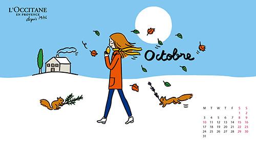 L'OCCITANE  2016 10月桌布