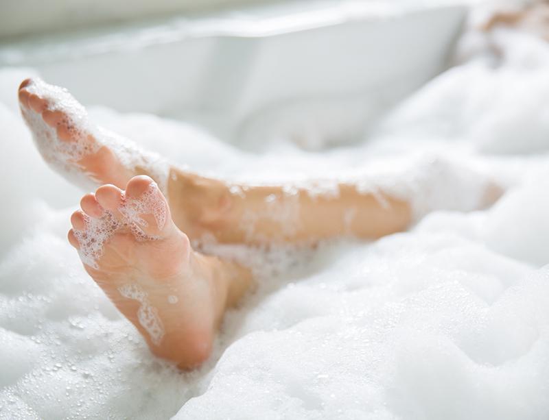 <泡風呂の作り方>