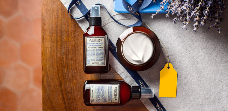 L'Occitane relaxing gifts sets and products for body, home and bath
