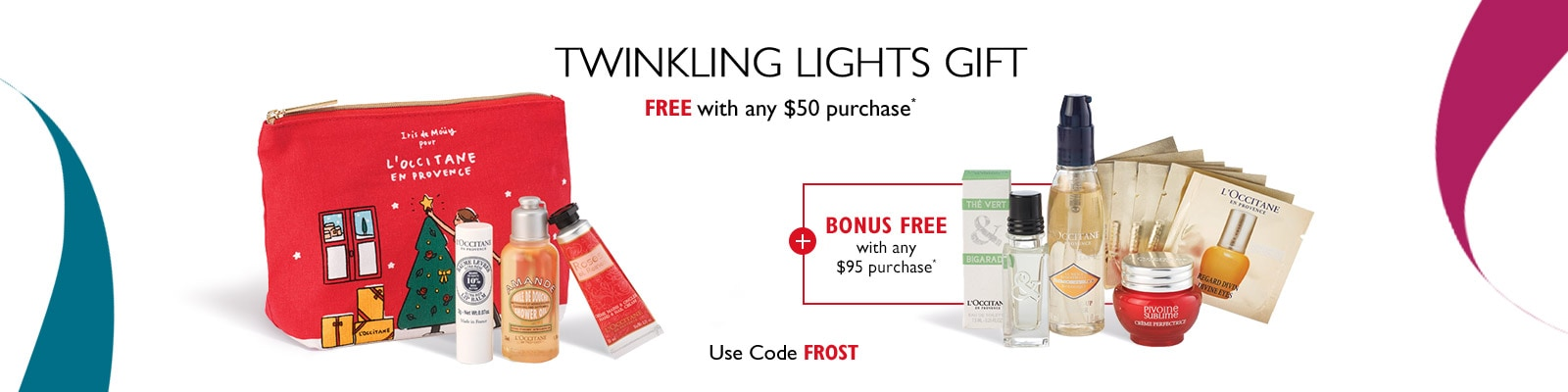 Receive a free 4-piece bonus gift with your $50 L'Occitane purchase