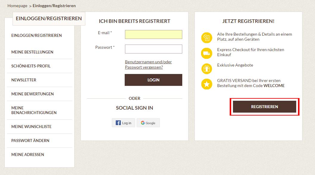 Registrieren 2